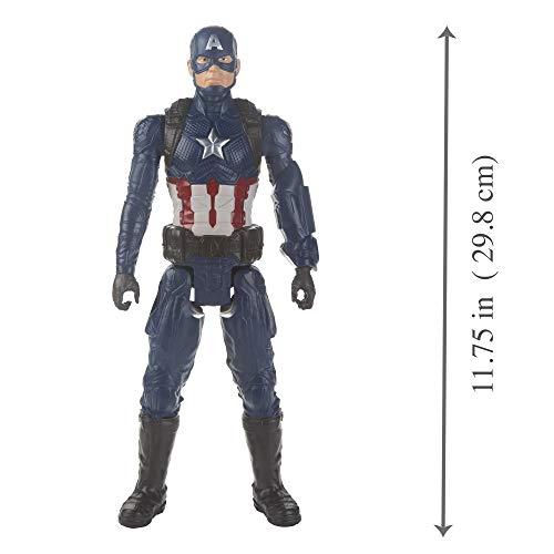 "Avengers Marvel Endgame Titan Hero Series Captain America 12""-Scale Super Hero Action Figure Toy with Titan Hero Power Fx Port"