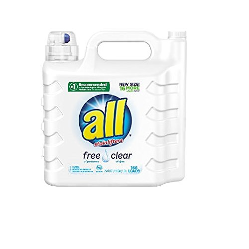 Price comparison product image all Liquid Laundry Detergent,  Free Clear for Sensitive Skin,  (Free Clear,  237 Fluid Ounces)