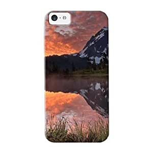 QueenVictory Brand New Defender Case For Iphone 5c (picture Lake Mt Baker Washington Usa) / Christmas's Gift