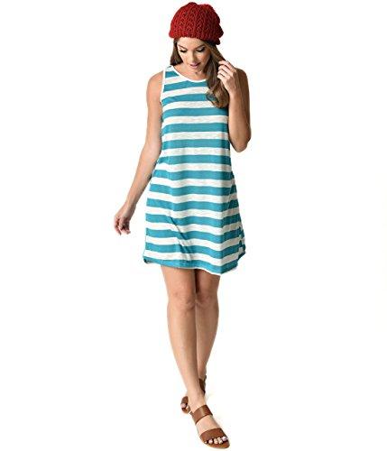 Heather Grey Stripe Dress - 9