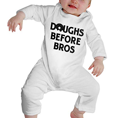 - Baby Boy Bodysuits Doughs Before Bros Kid Pajamas White