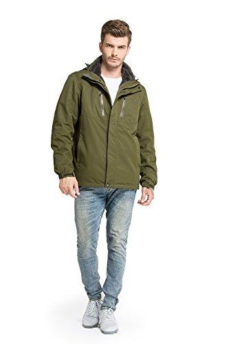 Large Product Image of OutdoorMaster Men's 3-in-1 Ski Jacket - Winter Jacket Set with Fleece Liner Jacket & Hooded Waterproof Shell - for Men