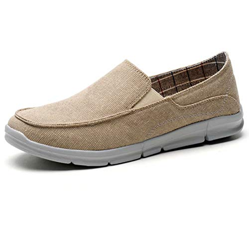 Khaki On Canvas Casual Men's Flat Deck 8708 LANCROP Lightweight Loafers Slip Boat Shoes ESnq7