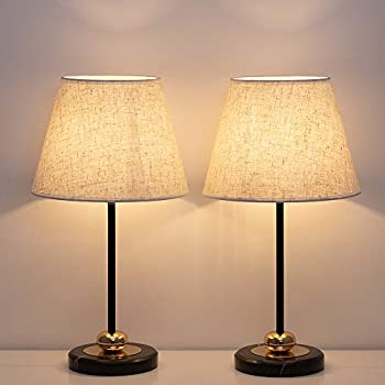 Haitral Bedside Table Lamps Modern Nightstand Lamps With