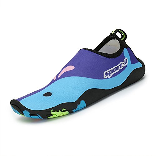 Garçon Enfant Aqua Fille Chaussettes Pieds Chaussures Aquatique Shoes Plage Barefoot Sport Nus Piscine Water Natation violet Thick D'eau Surf Saguaro v4nZFqdPF