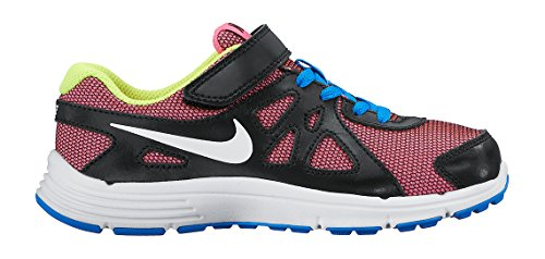 Nike Revolution 2 Psv, Zapatillas de Deporte Para Niñas Rosa / Blanco / Azul / Verde (Pink Pow / White-Photo Blue-Volt)
