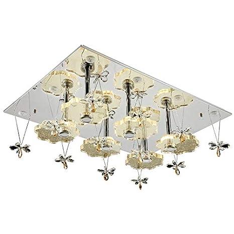 Lámpara LED de techo cristal 1680 101 * 76 cm margaritas ...