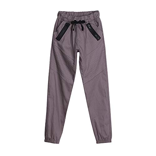 Low Crotch Joggers Harem Pants Stylish Hip Hop Drawstring Slim Fit Sweatpants Trousers Workout Running Pants Gray