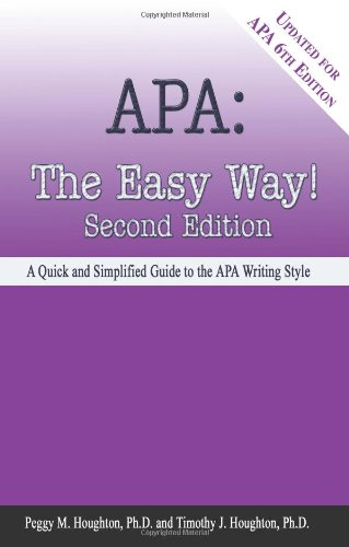 APA: The Easy Way! [Updated for APA 6th Edition] cover