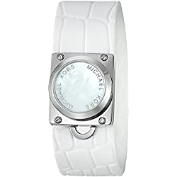 Michael Kors Access Activity Tracker Reade Croco Embossed Silicone White Bracelet