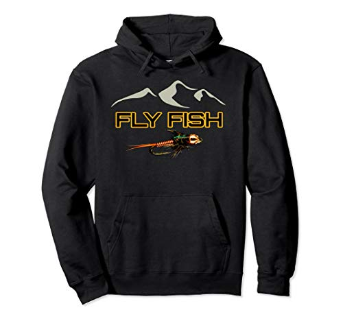 - Fly Fishing Gear Hoodie Caddis Nymph Gift to Wear in Waders