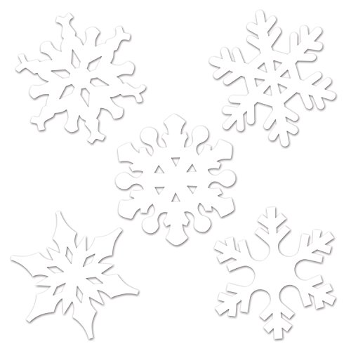 Beistle 22643 Mini Snowflake Cutouts, 4