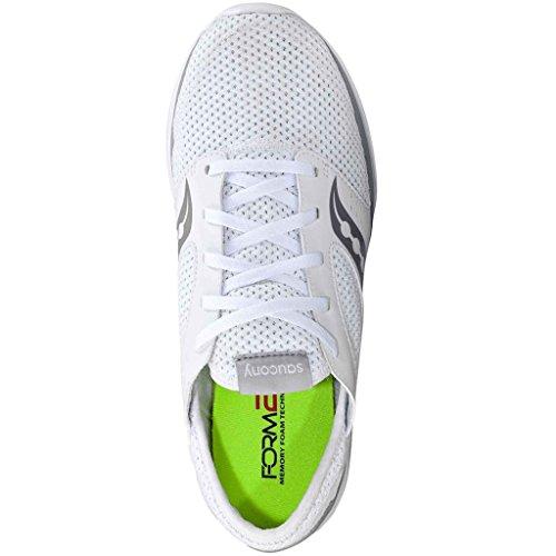 Saucony - Zapatillas de nordic walking de Lona para hombre Bianco (White/Grey)