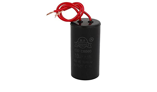 CBB60 10uF 5% Wired capacitancia Motor Estrella-up Capacitor AC450V: Amazon.com: Industrial & Scientific