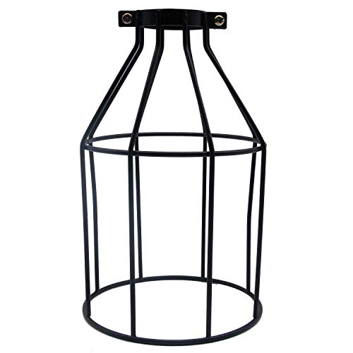 - MKLOT Lighting Metal Lamp Guard for Pendant String Lights Vintage Lamp Holders Industrial Chandelier Ceiling Fixture Lamp Shade Iron Wire Bottle Shape, 1 Pack/Lot
