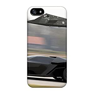 USMONON Phone cases New Air Combat Against Super Car Who Will Win Protective Iphone Iphone 5 5s Classic Hardshell Case