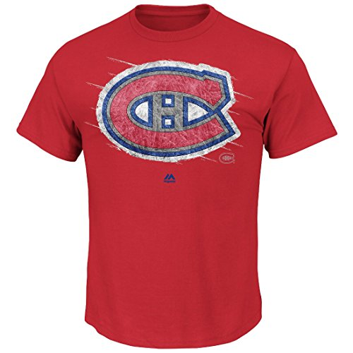 Montreal Canadians Hockey (NHL Montreal Canadiens Men's Canadians Pond Hockey Tee, Large, Red)