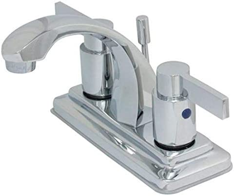 Elements of Design EB4641NDL Dubai 4 Centerset Lavatory Faucet with ABS Brass Pop-Up, 3-7 8 in Spout Reach, Polished Chrome