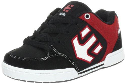 Etnies KIDS CHARTER 4301000089-599 - Zapatillas de cuero para niños Negro (Schwarz (BLACK/RED/WHITE 599))