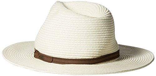 - Scala Men's Paper Braid Safari with Leather Band, Ivory, X-Large