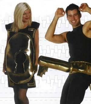 Lock and Key Fun Couples Costume (Adult Lock And Key Couples Costumes)
