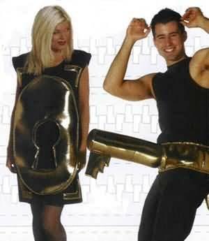 Lock and Key Fun Couples Costume Set (Lock And Key Costume)