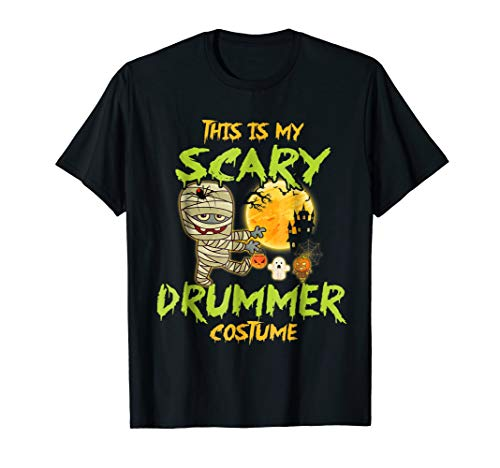 This Is My Scary Drummer Costume Halloween Shirt for $<!--$19.89-->