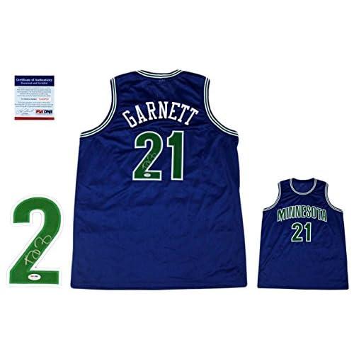 huge discount cc076 75710 Autographed Kevin Garnett Jersey - Witnessed Blue - PSA/DNA ...