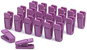 Slim-Line Set of (20) Finger Clips (Grape) by ClosetHangerFactory