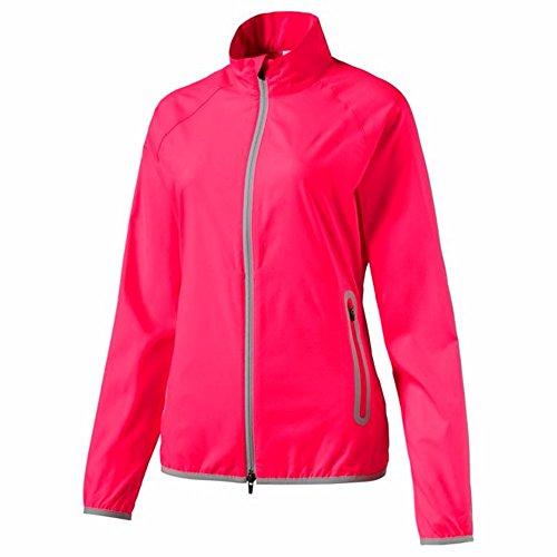 (PUMA Golf Women's 2017 Full Zip Wind Jacket, Bright Plasma, X-Large)