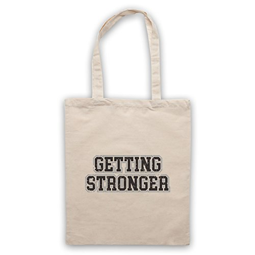 Getting Stronger Bodybuilding Workout Slogan Bolso Natural
