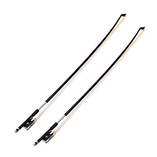 Kmise A8037 Black Carbon Fiber Stunning 4/4 Violin Bow, 4 Sets
