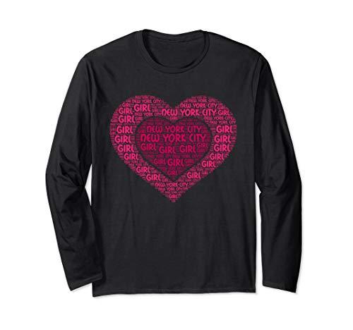 NEW YORK CITY Girl T-shirt I Love NEW YORK State Home Tee Long Sleeve T-Shirt