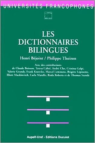 Livre Les dictionnaires bilingues epub pdf