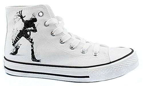 Bromeo Ajin Manga Unisex Segeltuch Hallo-Spitze Sneaker Trainer Schuhe