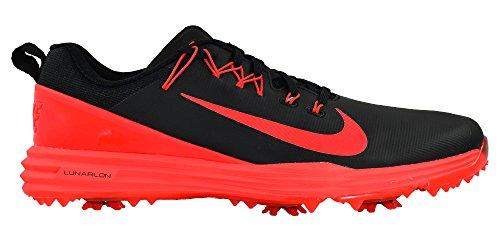 Nike Mens Lunar Command 2 Golf Shoes, Black/Max Orange, 13 M US