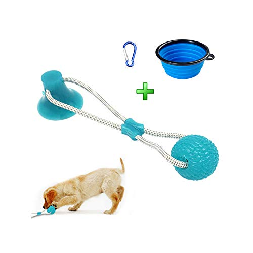 Kiwi Hill The Last Few,Loss Mo-ney Big S-A-L-E,Rope Ball with Suction Cup Pet Supplies,Interactive Molar Chew Toy,Non Toxic Natural Rubber Toy