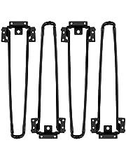 Opklapbare tafelpoten 4 STUKS Opklapbare haarspeldtafelpoten 12,6 INCH Hoogte Heavy Duty Easy Install Inklapbare salontafelpoot
