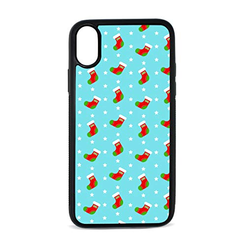 Candy Needlepoint (Needlepoint Christmas Stocking Kkit Designed for Apple iPhone X Case (2018) Soft TPU Cover Case,Compatible iPhone X Case)