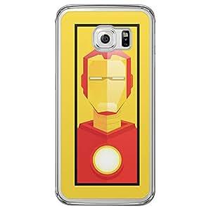 Loud Universe Samsung Galaxy S6 Edge Super Heroes Iron Man Tony Stark Triangular Printed Transparent Edge Case - Yellow