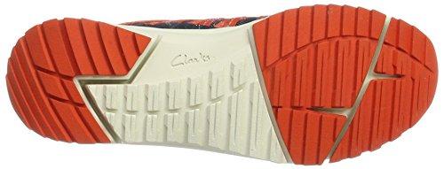 Clarks Dame Tri Spor Sneaker Blau (Flåde Combi) CfP07GBA