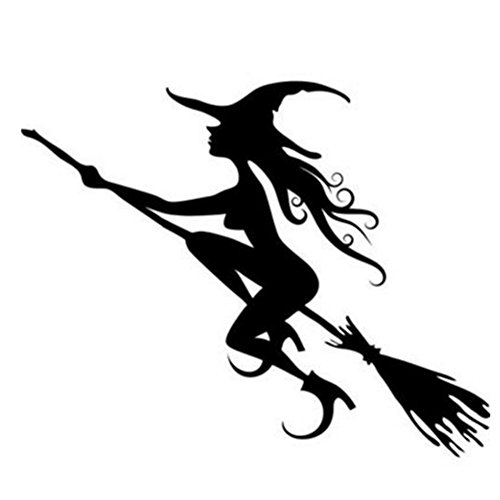 xuebao Happy Halloween Magical Witch and Spider Tomb Wall Decals Window Stickers Halloween Decorations for Kids Rooms Nursery Halloween Party (Style 3)]()