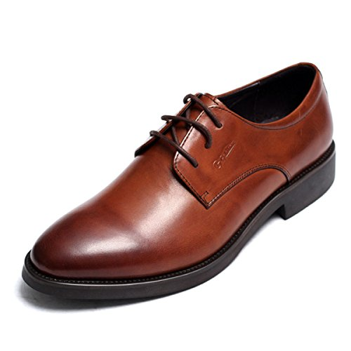 Uomo In Pelle Primavera Autunno Nero Marrone Moda Confortevole Low Top Casual Formale Derby Oxford Lace Mocassini Scarpe Da Sera Marrone