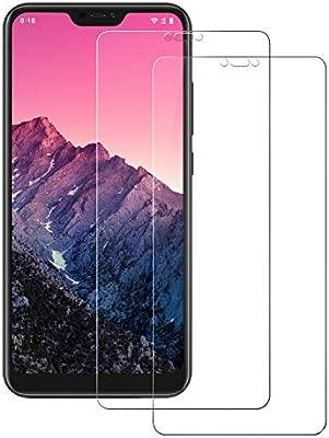 POOPHUNS Cristal Templado Xiaomi Mi A2 Lite, 2-Unidades Protector ...