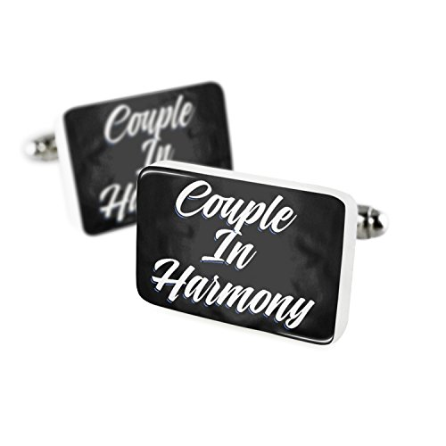 Cufflinks Classic design Couple In Harmony Porcelain Ceramic NEONBLOND by NEONBLOND