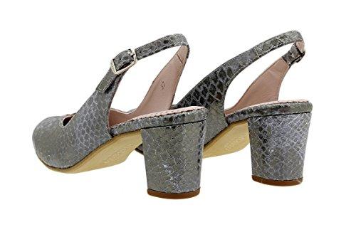 Confort PieSanto Femme Serpiente Scarpins 180229 Acero Chaussure TwIPT
