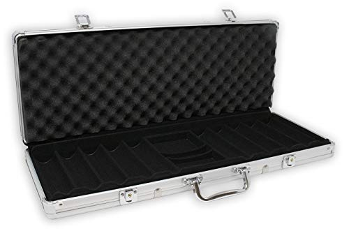 DA VINCI Aluminum 500 Chip Case (Aluminum Poker Chip Case Holds)
