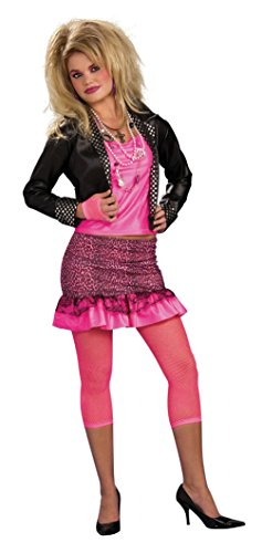 Cheap 80'S Groupie Adult Costume TWEEN SIZING VERY SMALL 80s Diva Costume