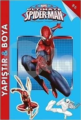 Marvel Ultimate Spider Man Yapistir Boya 9786053336556 Amazon
