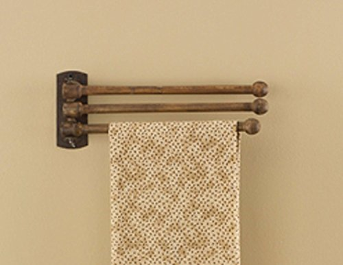 Mounted Hardwood Top Bars Wood - Park Designs 3 Prong Wood Towel Rack